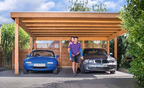 Sichtschutz, Zaun, Carport, Terrasse: aus Holz – von SCHEERER - Carports