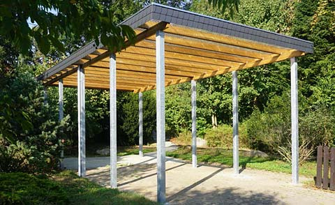 sichtschutz zaun carport terrasse aus holz von scheerer carports. Black Bedroom Furniture Sets. Home Design Ideas